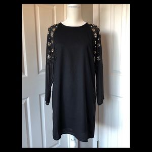 H&M sequin sleeve shift dress